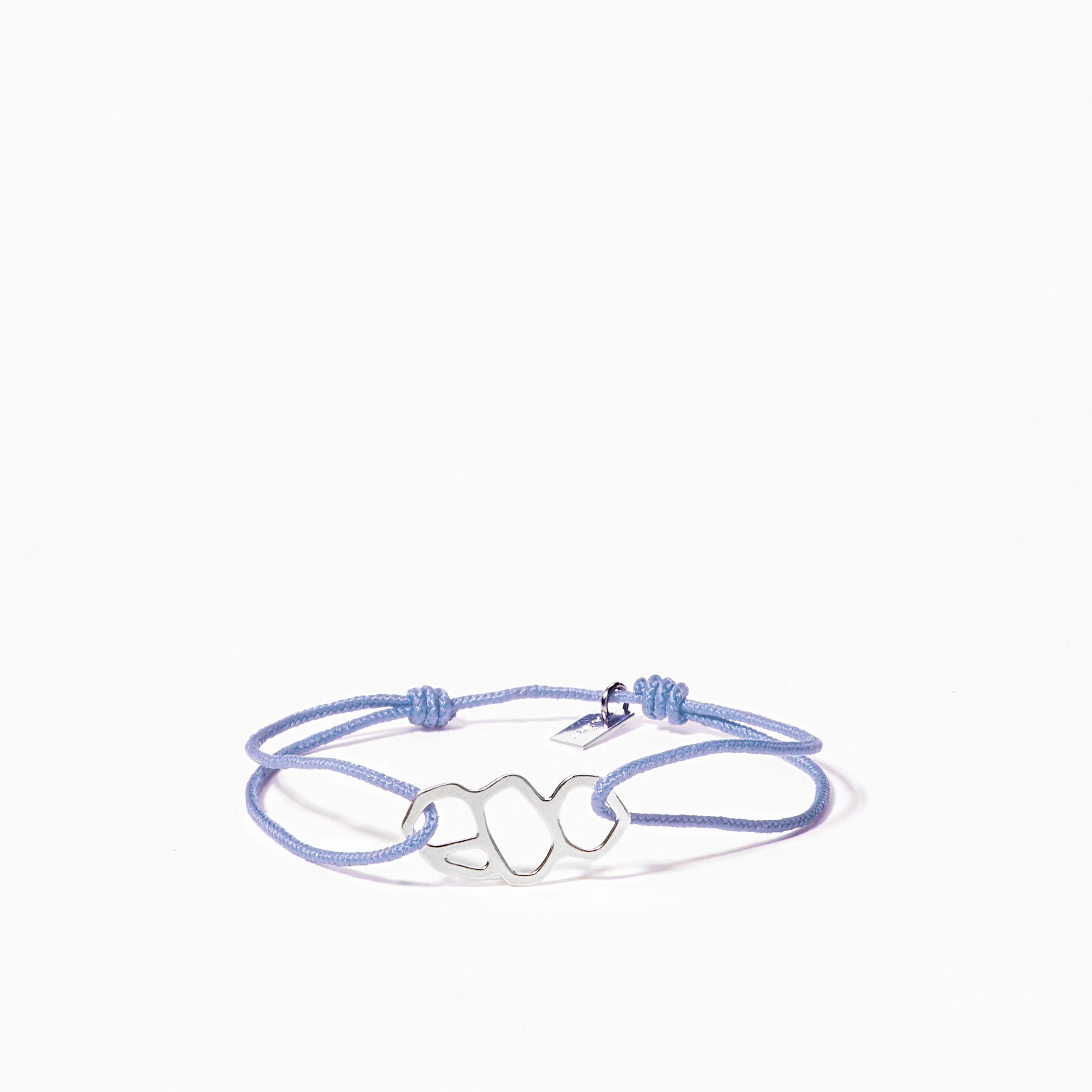 Bracelet bleu carre adayin for Carre bleu