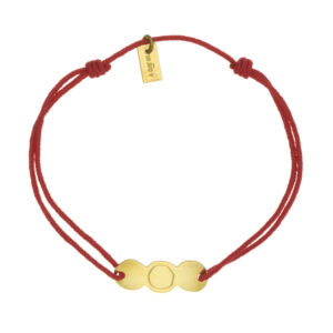 bracelet femme or lien rouge
