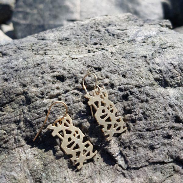 boucles d'oreilles or sur pierre